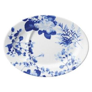 フローラル 仕切り付9吋皿 中華食器 プラター 楕円皿 20cm〜30cm 業務用 日本製 磁器 約22.5cm 中華皿 餃子皿 ギョーザ皿 餃子用 楕円プレート 小判皿 オーバル おしゃれ