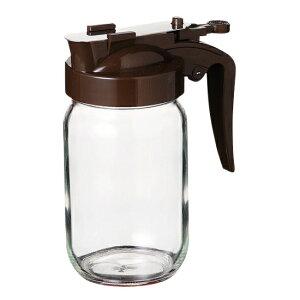 ハニーボトル 240 ブラウン ガラス カスター&ディスペンサー 業務用 約59(最大80)mm