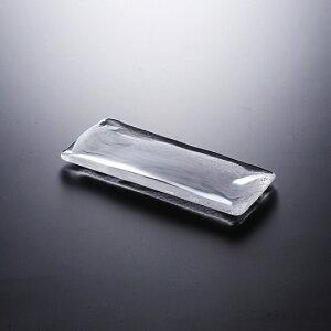 水墨 長角皿 小 白 ガラス プレート 正角・長角 業務用 約240mm