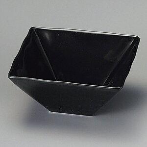 黒釉凪11.5cm角鉢 和食器 小鉢(12cm以下) 業務用 約11.5cm 和食 和風 鉢 サラダ 枝豆 煮物 おひたし キムチ 冷奴 揚げ出し豆腐 デザート 焼肉店