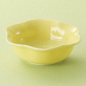 黄彩花型小付 和食器 小付 業務用 約9.6cm お通し もずく酢 珍味 カップ 小鉢 小 たこわさ 人気 定番 デザート 杏仁豆腐 焼肉店