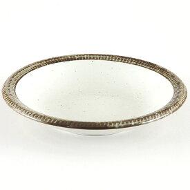 渕錆粉引7寸浅鉢 和食器 丸皿(中) 業務用 約21.2cm 和食 和風 中皿 主菜 定食