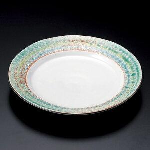 京三彩7.5皿 和食器 丸皿(中)18cm〜25cm 業務用 約22.5cm 和食 和風 中皿 メイン料理 前菜 鮨屋 寿司