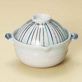 色十草両手鍋 和食器 雑炊鍋・小鍋 業務用 約16cm 和食 和風 ぞうすい 鍋料理 おかゆ お粥