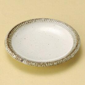 渕錆粉引4.0皿 和食器 フルーツ皿・銘々皿・取皿 業務用 約14cm 和食 和風 プレート フルーツ デザート 和菓子 甘味 ケーキ 和テイスト 定番 取り皿