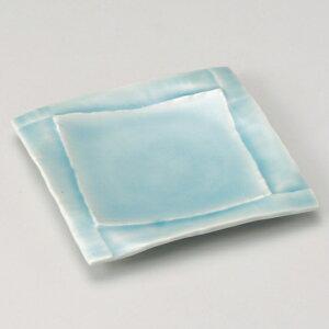 湖水四角皿 和食器 フルーツ皿・銘々皿・取皿 業務用 約17.8cm 和食 和風 プレート フルーツ デザート 和菓子 甘味 ケーキ 和テイスト 定番 取り皿