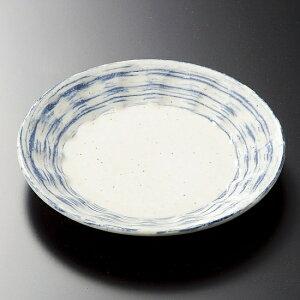 しのぎ型青刷毛目 4.5皿 和食器 フルーツ皿・銘々皿・取皿 業務用 約14cm 和食 和風 プレート フルーツ デザート 和菓子 甘味 ケーキ 和テイスト 定番 取り皿