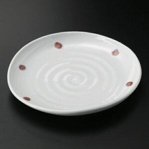 青磁紅玉たわみ6.0皿 和食器 フルーツ皿・銘々皿・取皿 業務用 約17.8cm 和食 和風 プレート フルーツ デザート 和菓子 甘味 ケーキ 和テイスト 定番 取り皿