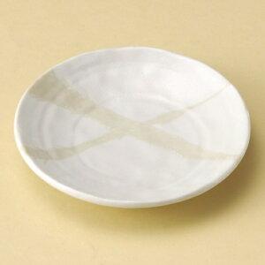 白湧水捻り5.0皿 和食器 フルーツ皿・銘々皿・取皿 業務用 約16.5cm 和食 和風 プレート フルーツ デザート 和菓子 甘味 ケーキ 和テイスト 定番 取り皿