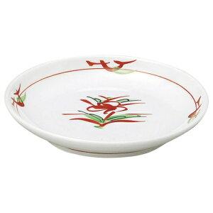 赤絵京風小花 丸3.0皿 和食器 フルーツ皿・銘々皿・取皿 業務用 約10.3cm 和食 和風 プレート フルーツ デザート 和菓子 甘味 ケーキ 和テイスト 定番 取り皿
