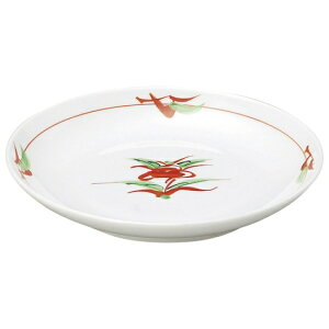 赤絵京風小花 丸4.0皿 和食器 フルーツ皿・銘々皿・取皿 業務用 約13.6cm 和食 和風 プレート フルーツ デザート 和菓子 甘味 ケーキ 和テイスト 定番 取り皿