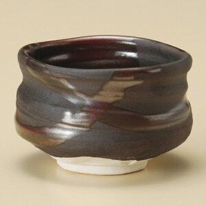 赤流し抹茶碗 和食器 抹茶碗 業務用 約11×8cm ぜんざい 茶道教室 茶道 おしゃれ 和テイスト