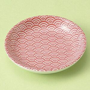 青海波 赤 10cm丸皿 和食器 小皿 業務用 約10.3cm 和食 和風 漬物 たれ 薬味 サラダ 和菓子 冷奴 ミニ しょうゆ皿