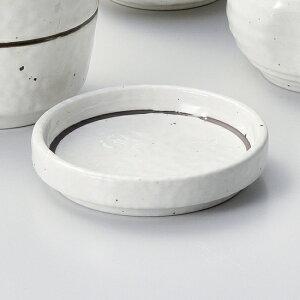 粉引ライン丸3.0薬味皿 和食器 そば徳利・そば猪口・薬味皿 業務用