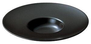 フリーシリーズ スープセレクション 26cm 平型スープ 黒マット 黒い器 洋食器 丸型プレート 25cm〜30cm 業務用 カネスズ 約26cm 洋食 リゾット デザート 前菜 コース料理 洋食レストラン ホテル