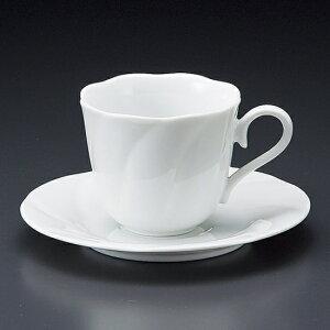 花形新白磁碗皿 洋食器 カップ&ソーサー コーヒー 業務用 喫茶店 珈琲屋 カフェ ケーキ屋 花柄 シンプル パン屋 ベーカリーカフェ