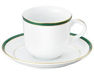 UDE ウルトラホワイトラインカラーグリーン アメリカン碗皿 洋食器 カップ&ソーサー アメリカン 業務用 ライトコーヒー 来客用 ホテル ケーキ屋 パン屋 ベーカリーカフェ