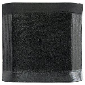 こより 黒マット 正角中皿 黒い器 洋食器 正角プレート(S) 業務用 約16.5cm マリネ デザート 前菜 皿 四角 中皿 シンプル おしゃれ モダン カフェ レストラン ホテル ケーキ皿 デザート皿 パ