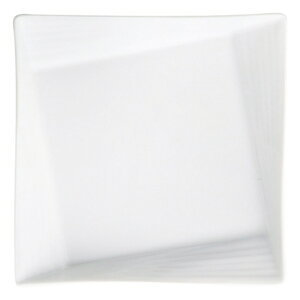 Scena White18cmリムライン角プレート 白い器 洋食器 正角プレート(S) 業務用 約18cm マリネ 皿 四角 中皿 シンプル おしゃれ モダン カフェ レストラン ホテル ケーキ皿 デザート皿 パン皿