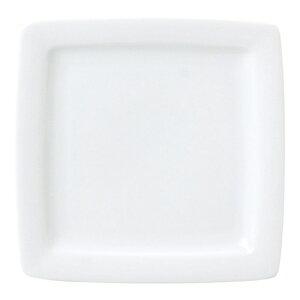 レーラホワイト 17cm正角皿 白い器 洋食器 正角プレート(S) 業務用 約17.2cm マリネ デザート 前菜 皿 四角 中皿 シンプル おしゃれ モダン カフェ レストラン ホテル ケーキ皿 デザート皿 パ
