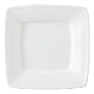 GIGA 白磁強化業務用 7吋スクエアプレート 白い器 洋食器 正角プレート(S) 業務用 約17.2cm マリネ 皿 四角 中皿 シンプル おしゃれ モダン カフェ レストラン ホテル ケーキ皿 デザート皿 パ