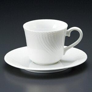 白磁ストリームコーヒー碗皿 洋食器 カップ&ソーサー コーヒー 業務用 喫茶店 珈琲屋 カフェ ケーキ屋 花柄 シンプル パン屋 ベーカリーカフェ