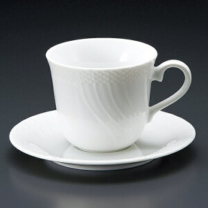 白磁ストリームアメリカン碗皿 洋食器 カップ&ソーサー アメリカン 業務用 ライトコーヒー シンプル ケーキ屋 ベーカリーカフェ イタリアンレストラン フレンチレストラン