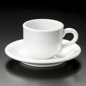 白磁NVコーヒー碗皿 洋食器 カップ&ソーサー コーヒー 業務用 喫茶店 珈琲屋 カフェ ケーキ屋 花柄 シンプル パン屋 ベーカリーカフェ