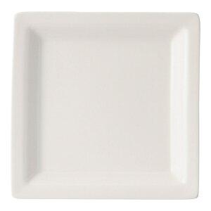 ボーンセラム 16cm角皿 白い器 洋食器 正角プレート(S) 業務用 約16.2cm マリネ デザート 前菜 皿 四角 中皿 シンプル おしゃれ モダン カフェ レストラン ホテル ケーキ皿 デザート皿 パン皿