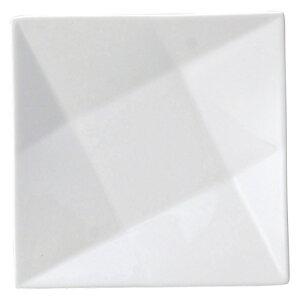 AngelWhite フォウルドプレート ミニ・白 白い器 洋食器 正角プレート(S) 業務用 約16.5cm 皿 四角 中皿 シンプル おしゃれ モダン カフェ レストラン ホテル ケーキ皿 デザート皿 パン皿