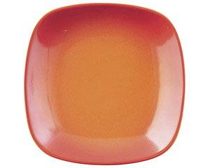 COLORE コローレ オレンジスクエアプレート S 洋食器 正角プレート(S) 業務用 約16.5cm マリネ 皿 四角 中皿 シンプル おしゃれ モダン カフェ レストラン ホテル ケーキ皿 デザート皿 パン皿