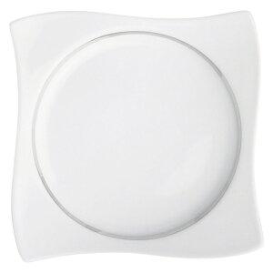 プラチナ彩満月7.5吋プレート 白い器 洋食器 正角プレート(S) 業務用 約18.2cm マリネ デザート 前菜 皿 四角 中皿 シンプル おしゃれ モダン カフェ レストラン ホテル ケーキ皿 デザート皿