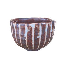 いっぷく碗 煎茶碗 志野焼 志野 紅志野 十草