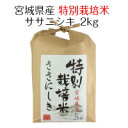 お米 白米 宮城県産 特別栽培米 ササニシキ 2kg 令和元年産 送料無料(北海道・沖縄は除く)