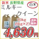 お米 白米 長野県産 ミルキークイーン 10kg(5kg×2) 平成28年度産 【本州・四国は送料無料】