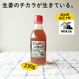 \ エントリーでポイント5倍 / 桐島畑のジンジャーシロップ230g 生姜シロップ しょうがシロップ 国産 高知県産