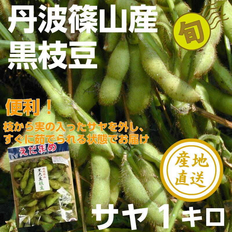 【サヤのみ】丹波篠山 黒大豆枝豆1キロ 枝豆 黒枝豆 黒豆 枝豆