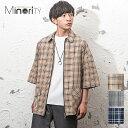 シャツジャケット メンズ シャツ メンズ ビッグシルエット オーバーサイズ ルーズ ビッグシャツ 5分袖 チェックシャツ チェック柄 半袖 ジャケット 半袖シャツ シャツ 半袖 リング 韓国 ファッシ