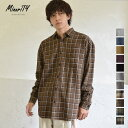 チェックシャツ メンズ 長袖シャツ ネルシャツ メンズ オーバーサイズシャツ ビッグシルエット シャツ メンズ グレン…