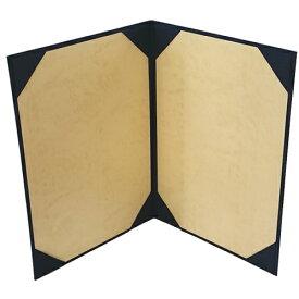 証書ファイル 布 紺 A4 二枚用 パッドなし 9272-08