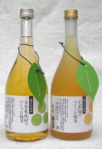 蓬莱泉 完熟梅でつくった梅酒蓬莱泉 自家製焼酎でつくった梅酒720ml 2本飲み比べセット