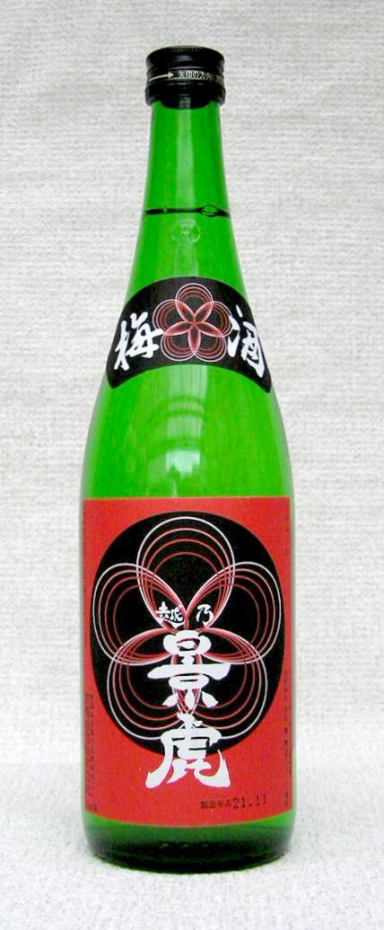 【送料割引対象外商品】【平成30年2月以降入荷分】越乃景虎 梅酒 720ml