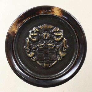 高級メタルボタン(ME2304F-SBR)15mm ハンドメイド(手作り、手芸、釦付け替え)に