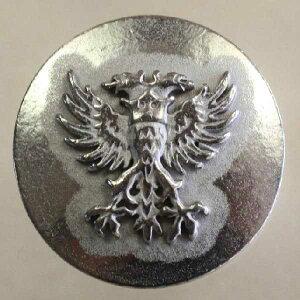 高級メタルボタン (RP6-WPU)21mm ハンドメイド(手作り、手芸、釦付け替え)に