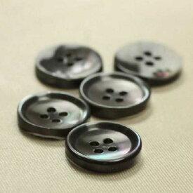 貝ボタン STB1018 高瀬(スモーク) 15mm 1個入