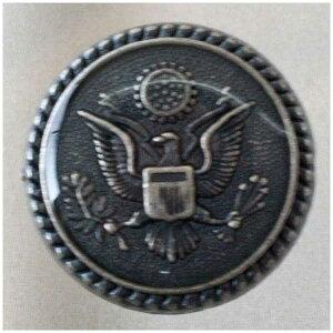 高級メタルボタン(USA1ASI)15mm  ハンドメイド(手作り、手芸、釦付け替え)に