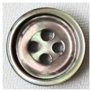 染色できる貝ボタン USB1015 黒蝶貝 10mm 1個入 ハンドメイド(手作り、手芸、釦付け替え)に