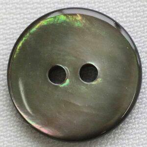 染色できる貝ボタン USB26 黒蝶貝 9mm 1個入 ハンドメイド(手作り、手芸、釦付け替え)に