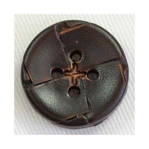 本革レザーボタン(NO2200-4)25mm 手作り、手芸、釦付け替え)に