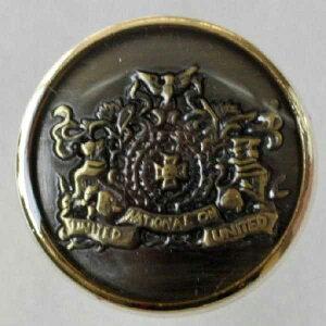 高級メタルボタン(DM0823G)15mm ハンドメイド(手作り、手芸、釦付け替え)に